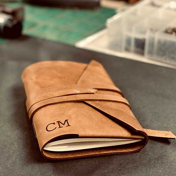 Personalised handmade leather journals