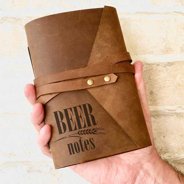 Beer Notes Leather Journal