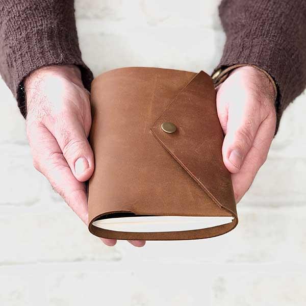 Pocket Snap Leather Journal