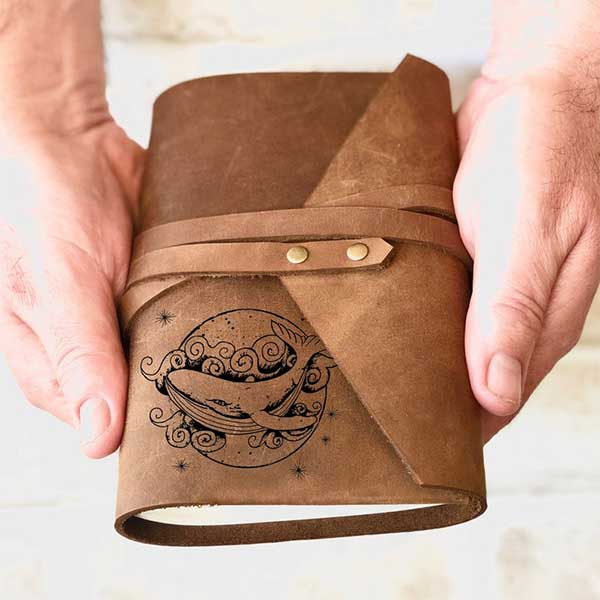 Whale Inspiration Leather Journal