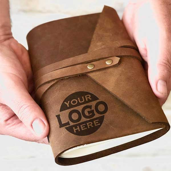 Corporate Gift leather journals with logo
