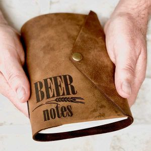 Beer Tasting Notes Leather Journal