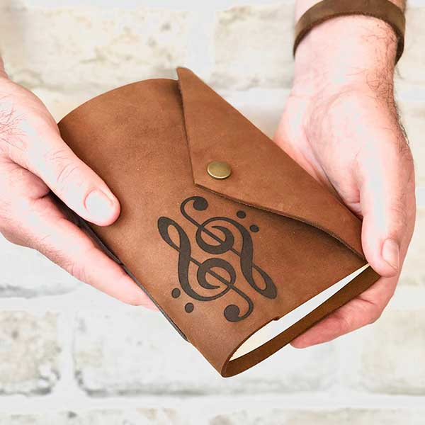 Music Leather Journal Snap