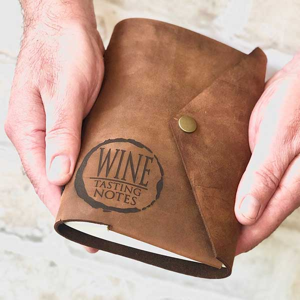 Wine Tasting Notes Leather Journal